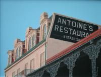 Buildings - Antoines French Quarter - Acrylic On Canvas