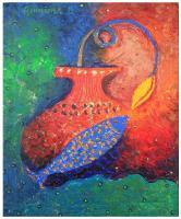 Utpatti III - Acrylic On Canvas Paintings - By Arunima Kapoor, Symbolic Expressionism Painting Artist