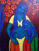 Figurative - Motherliness - Acrylic On Canvas
