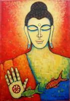 Buddha Series - Lord Buddha I - Acrylic On Canvas
