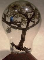 Bottle Whimsy - Bird In Tree - Multi Medium