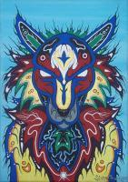 Spirit Guide - Acrylic Paint On Canvas Paintings - By Steve Trudeau, Ojibwa Art Painting Artist