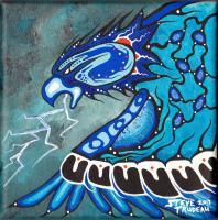 Painting - Thunder Bird - Acrylic Paint On Canvas