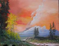Cloudscapes - Road To Ft Rock - Acrylic