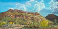Golden Gate Mountain - Acrylic Paintings - By John Wise, Western Scenes Painting Artist