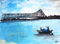 Landscape - Howrah Bridge - Watercolor