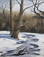 Winter Stream - Watercolor Paintings - By Jay Moncrief, Watercolor Painting Artist