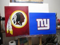 Sports - Giants  Redskins - Acrylic