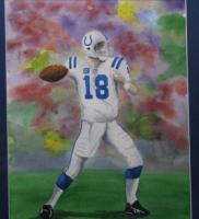 Sports - Peyton Manning - Watercolor
