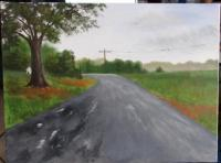 Acrylic Landscape - Henry Harris Rd After The Rain - Acrylic