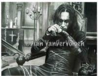 Movie Characters - Brandon Lee The Crow Original Drawing - Graphite  Charcoal