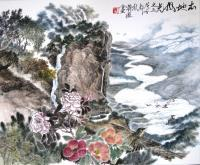 Local Scenery Part 3 - Ink Chinese Color Paintings - By Wong Tsz Mei, Chinese Painting Painting Artist