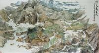 Padding In Ten Thousand Miles Long River - Ink Chinese Color Paintings - By Wong Tsz Mei, Chinese Painting Painting Artist