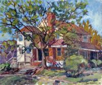 Landscape - Paul And  Ross House - Oil