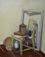 Still-Life - Still-Life With Yellow Chair - Oil