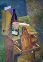 Still-Life - Still-Life With Open Drawers - Oil