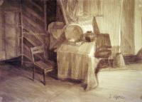 Still-Life - Empty Chair - Ink  Charcoal