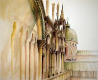 Venezia - Side Facade Of San Marco - Watercolor