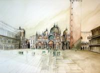 Venezia - Piazza San Marco - Watercolor