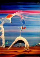 Surrealism - Acceleration - Oil On Canvas