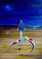 Surrealism - Winter Nocturne - Oil On Canvas