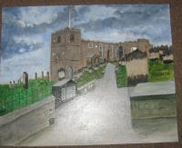 Modernised From Old Town Photo - St Marys Graveyard - Acrylic