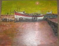 Modernised From Old Town Photo - Lifeboat - Acrylic