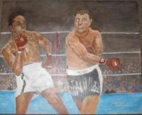 Painted And Enhanced From Phot - Boxers - Acrylic