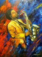 Original - Color Of Jazz - Oil On Canvas