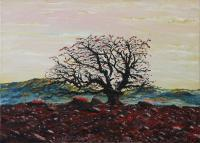 Elin Bogomolnik Landscapes - Tree In The Desert Oil Painting Bogomolbik - Oil Painting On Canvas