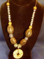 Jewelry For Jos Nigeria - Wood Glass And Stone Jewelry - By Katherine Green, Ethnic Beaded Jewelry Artist