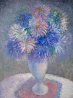 Still Life - Aster - Oil On Canvas