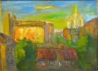 City Landscape - Moscow Patio 1953 - Oil On Canvas