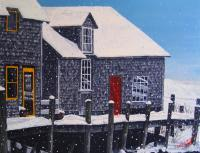 Michigan Winter 2 Sold - Oil On Canvas Paintings - By Cecil Williams, Realism Painting Artist