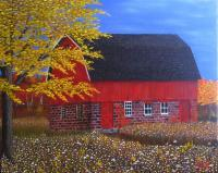 Michigan Winter 3 Sold - Oil On Canvas Paintings - By Cecil Williams, Realism Painting Artist