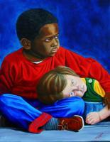 People - Children - Oil On Canvas