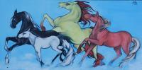 Horse Series - 4 Directions - Oil On Canvas