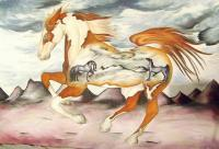 Horse Series - Badlands Horses - Oil On Canvas