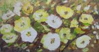 Flowers - Leaves And Flowers - Oil On Canvas