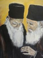 Portrait - Two Monks - Oil On Canvas