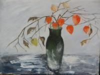 Still Life - Still Life With Physalis - Oil On Canvas