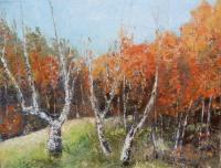 Landscape - A Little Autumn - Oil On Canvas