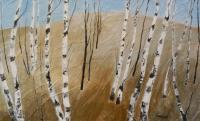 Trees - Field With Birches - Acrylic On Canvas