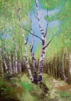 Trees - Spring Birches - Oil On Canvas