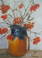 Still Life - Still Life With Red Fruits - Oil On Canvas