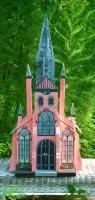 Trinity Church Birdhouse - Wood And Paint Woodwork - By Sherry Dinkins, Handbuilt Woodwork Artist