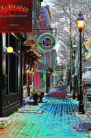 Baltimore-Fells Point - Thames Street Snowy Eve - Digital Photography