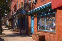 Baltimore-Fells Point - Full Moon Bar Fells Point Baltimore - Giclee Print