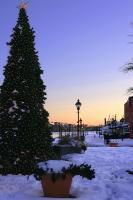 White Christmas In Fells Point - Giclee Print Photography - By George Edwards, Landscape Cityscape Photography Artist
