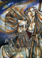 Jjnamerow - The Man Of La Mancha By J Namerow - Water Colors
